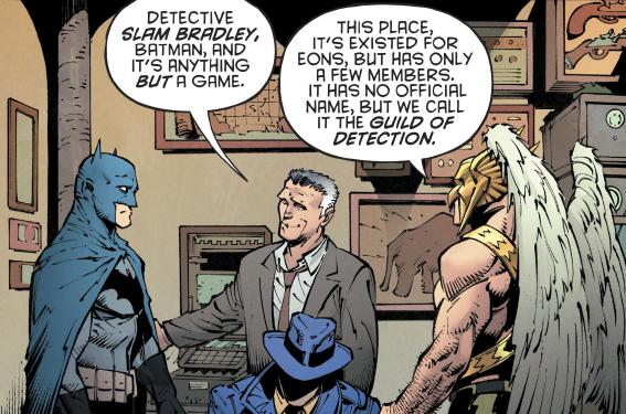Batman talks to Slam Bradley
