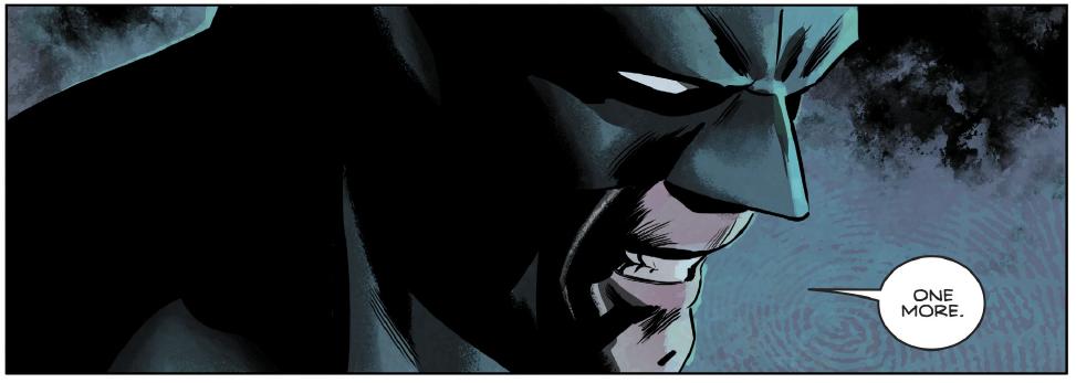 Batman being threatening.