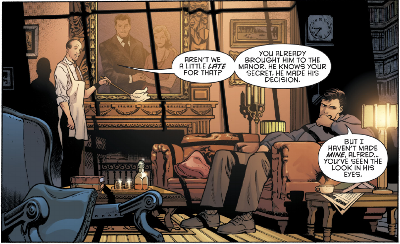 Bruce and Alfred talk.